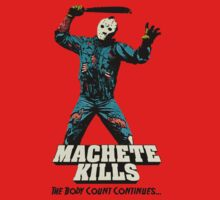 FRIDAY THE 13th Machete Kills Jason Voorhees T-Shirt by horrorkid