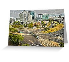 trams of melbourne Greeting Card