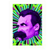 Nietzsche Burst 6 - by Rev. Shakes Art Print