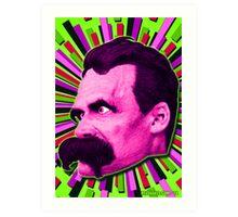 Nietzsche Burst 7 - by Rev. Shakes Art Print