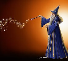 Magical Wizard  by Debbie Jew