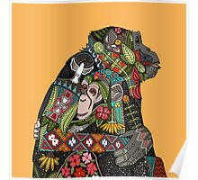 chimpanzee love Poster