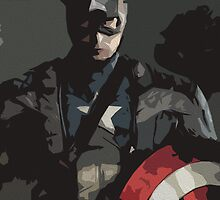 Captain America Poster by Colin Bradley