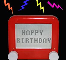 Etch a Sketch birthday card by bloonimages14