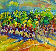 Vineyard Harvest Oil Painting Ekaterina Chernova by Ekaterina Chernova