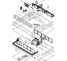 Architectural Exploded Line Graphic by alexanderross