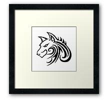 Wolf Tattoo Tribal Framed Print