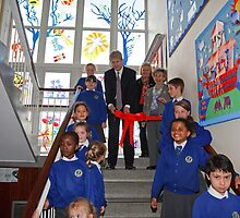 Jo Johnson MP at  St Philomena's  school Orpington kent by Keith Larby