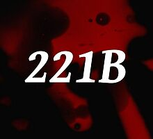 221B with blood spots.  by Lauren Goldson