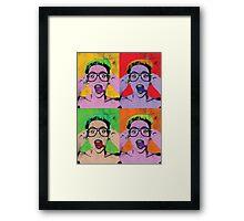 Miley Warhol Framed Print