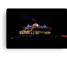 Arrival of the Queen Mary #2 Canvas Print