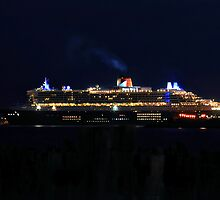 Arrival of the Queen Mary #1 by Steven  Agius