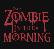 Zombie in the morning in blood drip by jazzydevil
