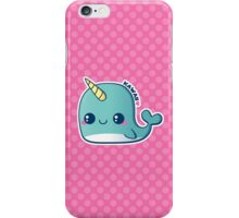 Kawaii Blue Narwhal iPhone Case/Skin