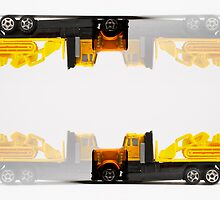 Crazy Yellow Truck by clarkeface