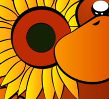 Platypus with Sunflower Sticker