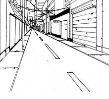 Japanese street drawing by Szabó Dani
