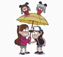 It's raining gnomes sticker by limeylimeylimey