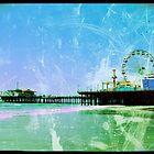 Blue Santa Monica Pier by stine1