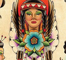 Native American Girl by MikeFrench