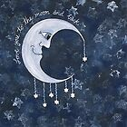 Love You To The Moon And Back by Lisa Frances Judd ~ QuirkyHappyArt