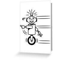 Robot funny cool fast funny dick comic Greeting Card