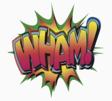 "Speech Bubbles Clouds Comic Book, ""WHAM!"" T-shirts by artkrannie"