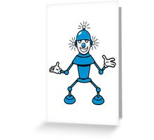 Robot funny cool light up comic fun Greeting Card
