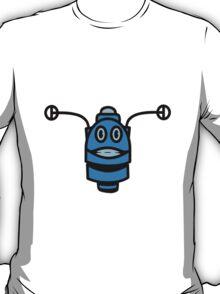 Funny cool robot head funny comic T-Shirt
