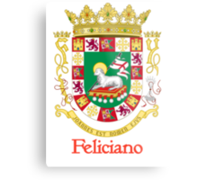 Feliciano Shield of Puerto Rico Metal Print