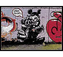 Crak tours- Street art from Bristol Photographic Print