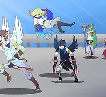 Kid Icarus Uprising 2nd Anniversary by KumoriDragon