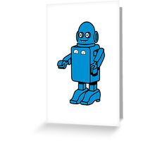 Robot funny cool design funny cartoon Greeting Card