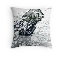 The Strange High House In The Mist Throw Pillow