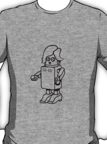 Robot funny cool design woman funny comic T-Shirt