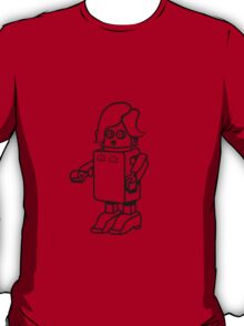 Robot funny cool design woman funny comic T-Shirt