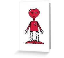 Robot woman's heart Romance love Greeting Card