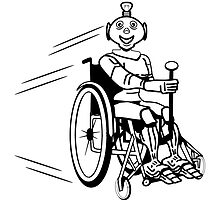 Robot cool humorous light wheelchair funny by Motiv-Lady