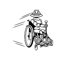 Robot cool tired funny funny wheelchair Photographic Print