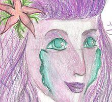 Purple Mermaid by Tiffysketch