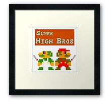 Super High Bros! Framed Print