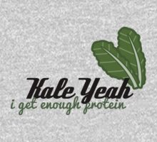 {Veg-Friendly T-Shirt} - Kale Yeah I Get Enough Protein by laralaco