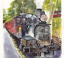 Puffing Billy Narrow-Gauge Steam Railway at Belgrave by Dai Wynn
