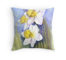 Backlit Daffies Throw Pillow