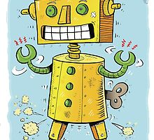 Vintage wind-up Robot by stickypencil