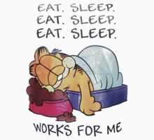 Garfield just eat and sleep by shahidk4u