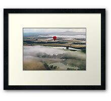 Hot Air Balloon At Sunrise, Yarra Valley, Australia Framed Print