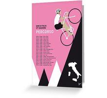 MY GIRO D ITALIA MINIMAL POSTER 2014-PERCOSO Greeting Card