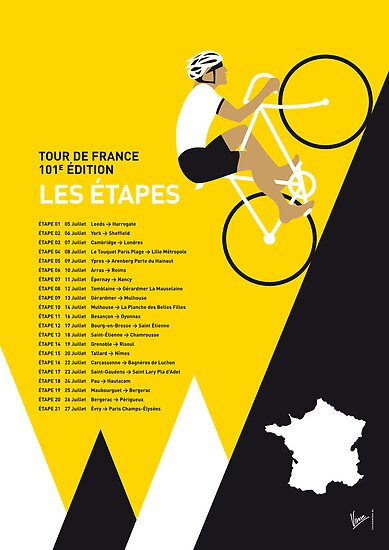 MY TOUR DE FRANCE MINIMAL POSTER 2014-ETAPES by Chungkong