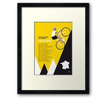 MY TOUR DE FRANCE MINIMAL POSTER 2014-ETAPES Framed Print